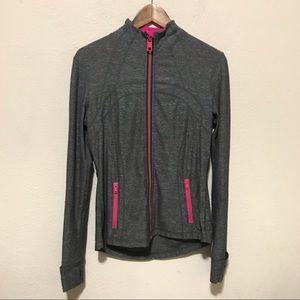 Lululemon Define Jacket Gray Pink Size 10